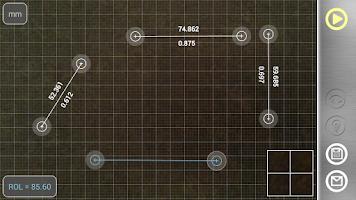 Screenshot of Partometer - camera measure