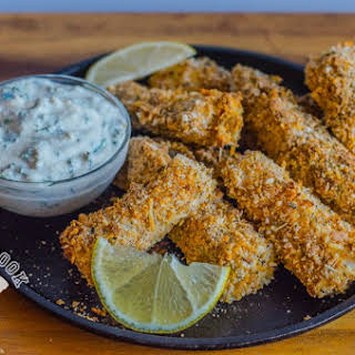 Healthy Crispy Fish Sticks.