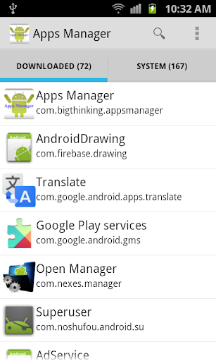 Apps Manager Apps Information