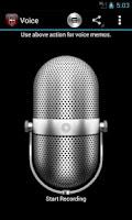 Screenshot of Voice Memos