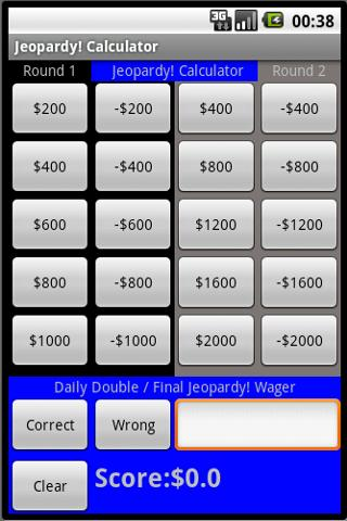 Jeopardy! Calculator- screenshot