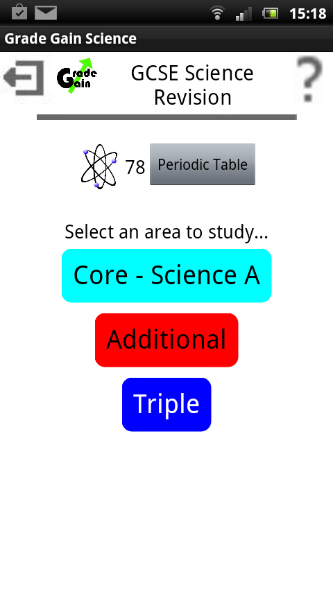 GCSE Science by Grade Gain- screenshot