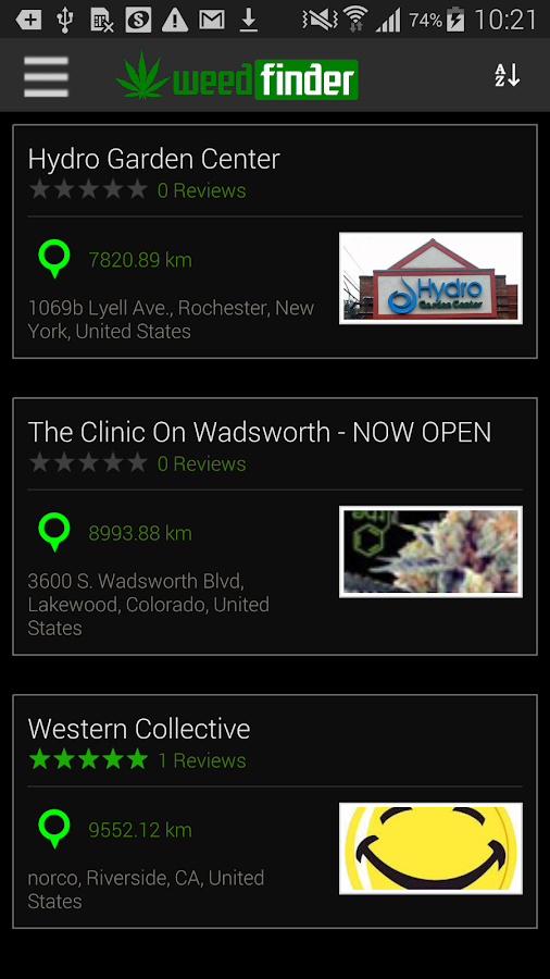 WeedFinder - Marijuana Strains- screenshot