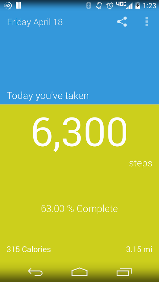My StepCounter: Easy Pedometer- screenshot