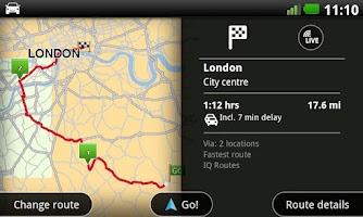 Screenshot of TomTom U.K. & Ireland