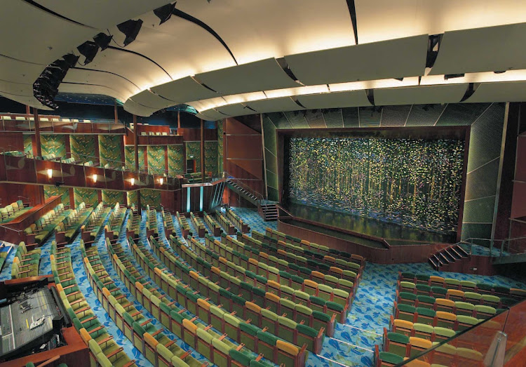 There's not a bad seat in the house for the Vegas- and Broadway-style productions at the Tropical Theater, on decks 4, 5 and 6 of Serenade of the Seas.