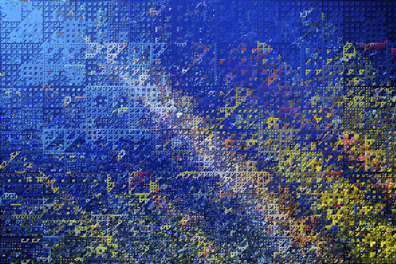 Fotografía abstracta de un fondo azul