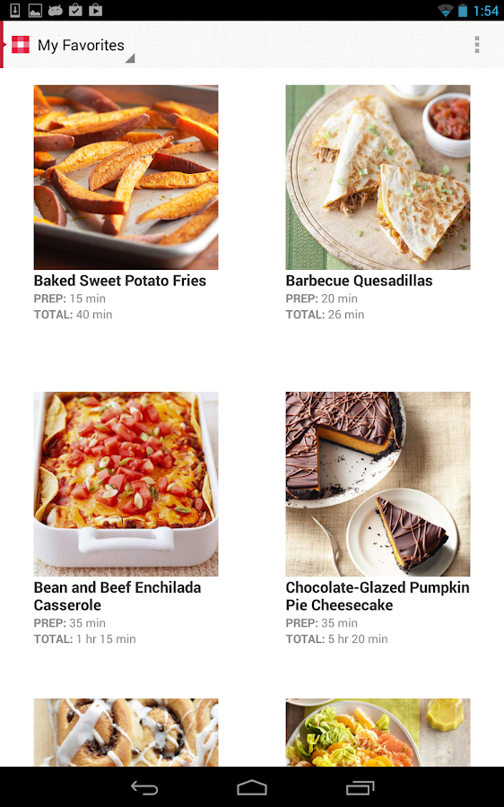 Must-Have Recipes from BHG- screenshot