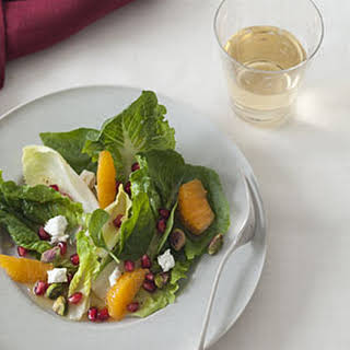Winter Salad with Pomegranate, Clementine, and Goat Cheese.