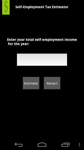 Self-Employment Tax Estimator