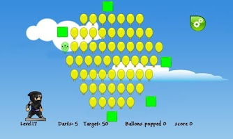 Screenshot of Ninja Balloons 2