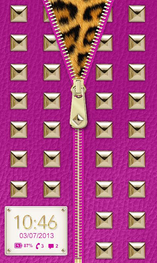 ★ Purple Studded Lock Screen ★