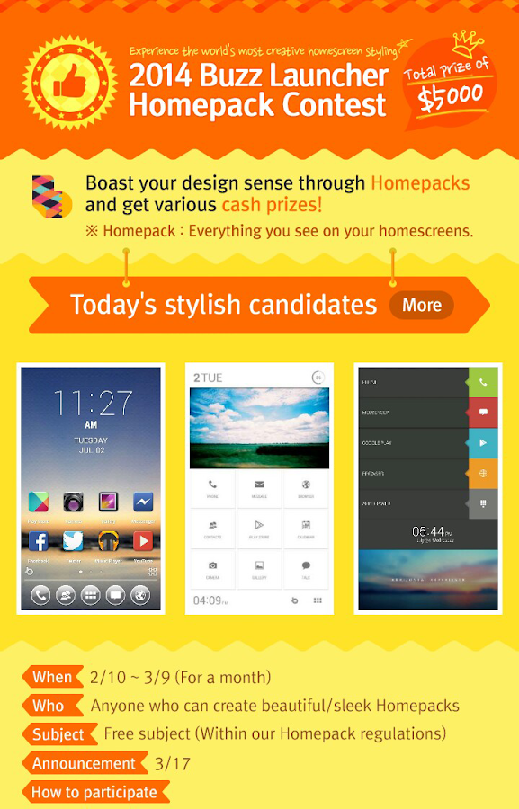 Buzz Launcher - screenshot