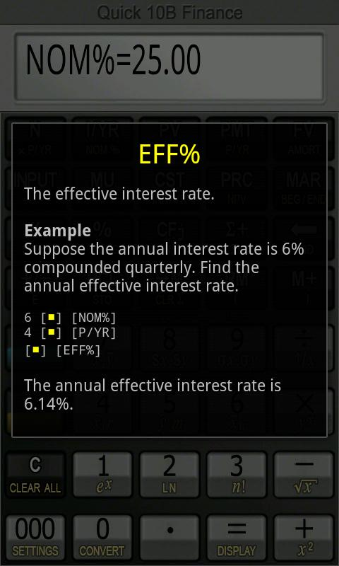 Quick 10B Financial Calculator - screenshot