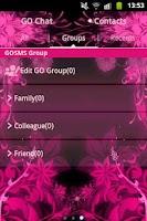Screenshot of GO SMS Theme Pink Flower
