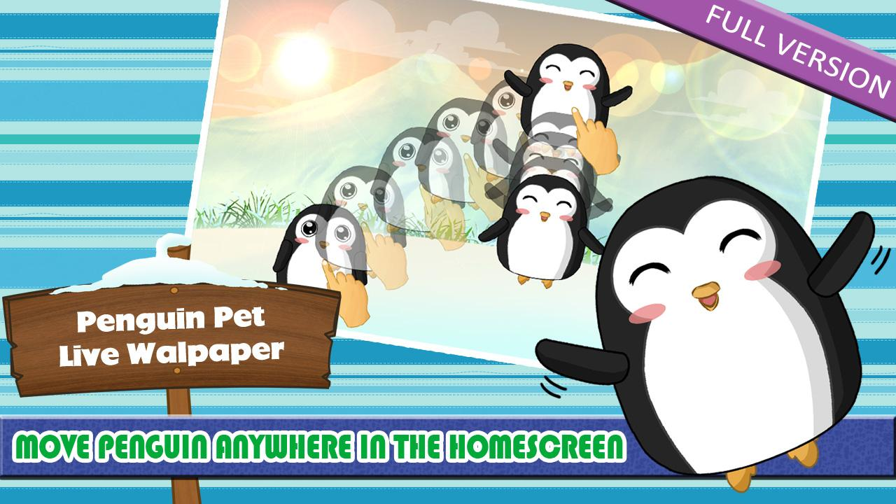 Penguin Pet LWP Free- screenshot