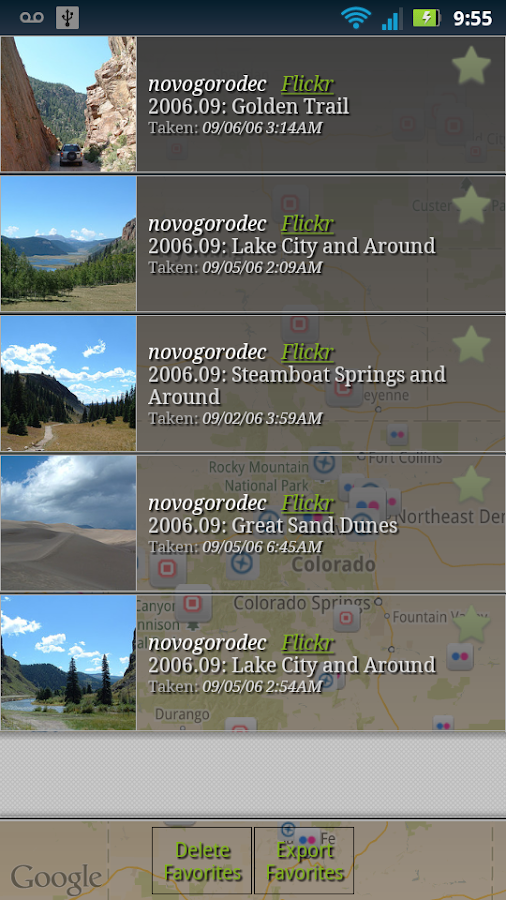 PhotoTracker - screenshot