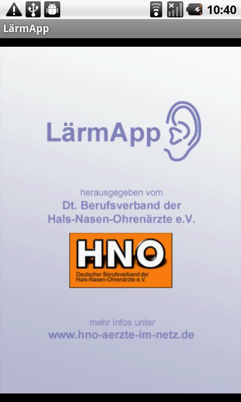 LärmApp – Screenshot