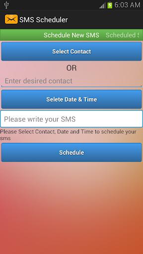 SMS Scheduler