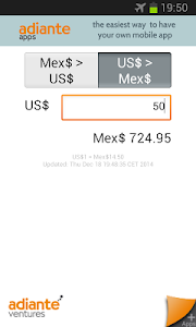 US Dollar to Mexican Peso screenshot 1