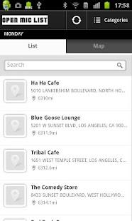 Open Mic List - screenshot thumbnail