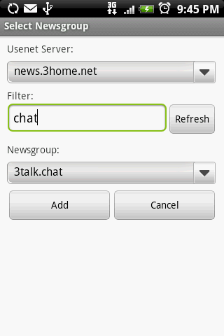 Usenet Reader for Android- screenshot