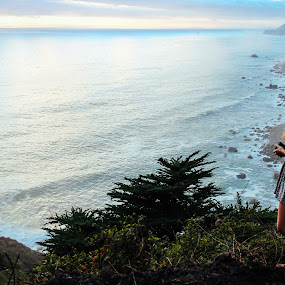 BigSurz by Cody Coker - Landscapes Beaches ( girls, sundress, sandy beach, sunset, beautiful, sunrise, beach, beautiful girl,  )
