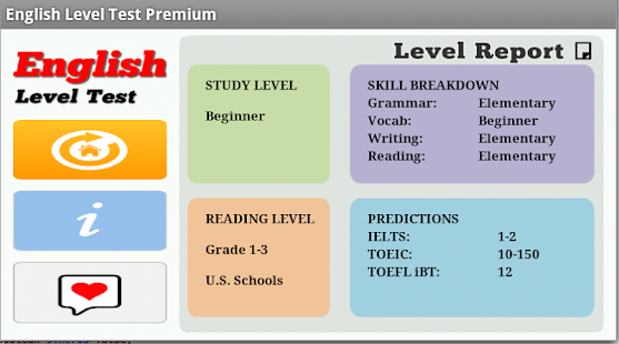 level 5 english language test Interactive free english level test 50 multiple choice questions to find your result and level links to other level tests.