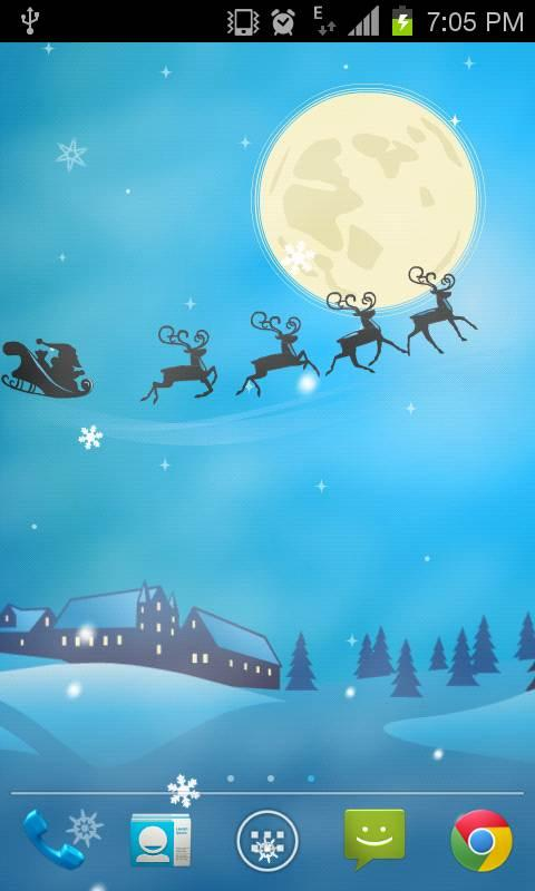 Flying Santa Live Wallpaper - screenshot