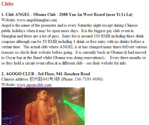 Gay Shanghai Bar Club Guide