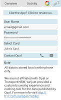 Screenshot of Opal Mobile