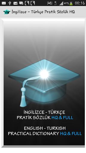 İngilizce Türkçe P. Sözlük HQ