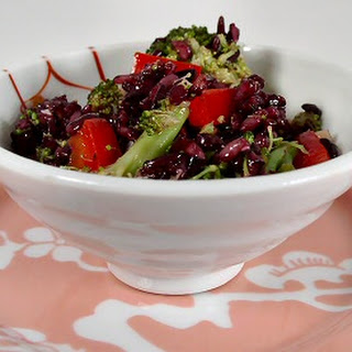 Broccoli Rice Salad with Sesame-Ginger Dressing.