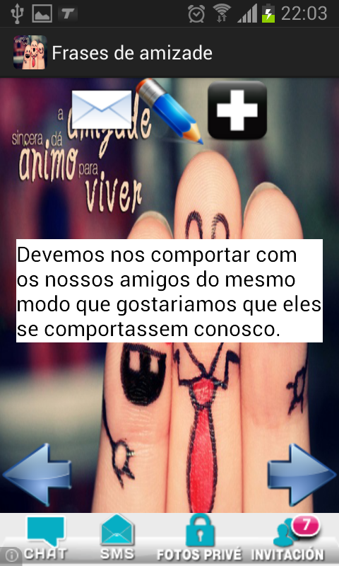 Frases de amizade portugues- screenshot
