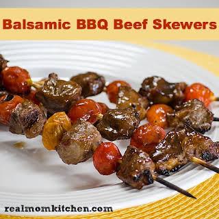 Balsamic BBQ Beef Skewers.