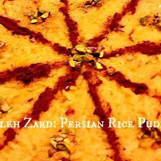Sholeh Zard - Persian Rice Pudding.