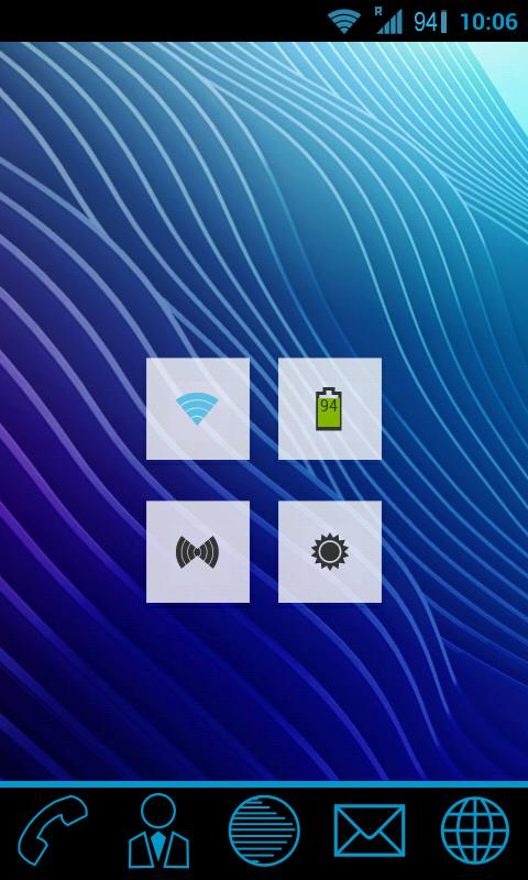 GoWidget ICS Holo Light theme - screenshot