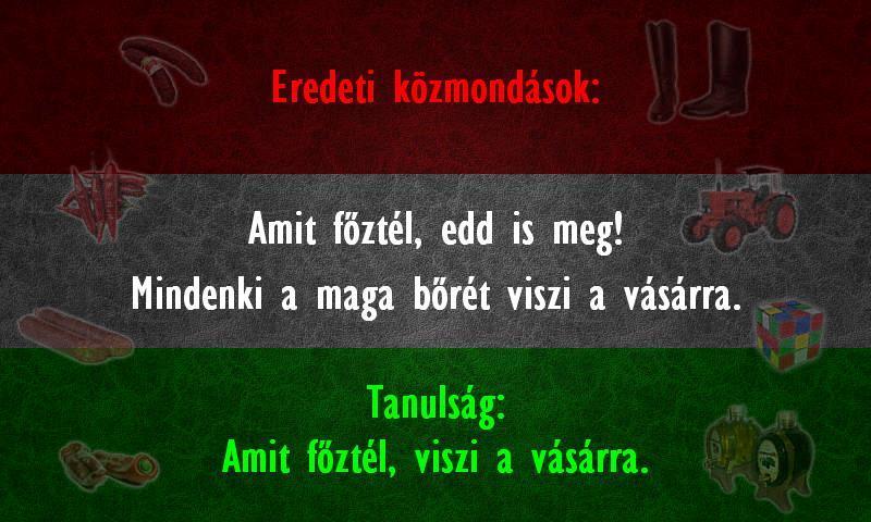 Magyar közmondás megamixer! - screenshot