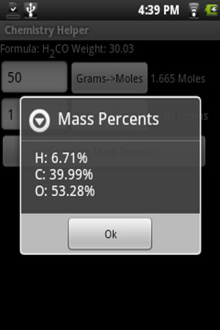 Chemistry Helper- screenshot