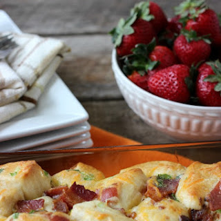 Cheesy Bacon Pull Apart Breakfast Biscuits.