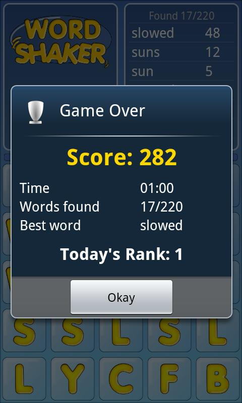 Word Shaker Free - screenshot