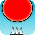 Red Bouncing Ball Spikes icon