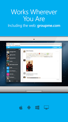 Screenshot 5 for GroupMe's Android app'