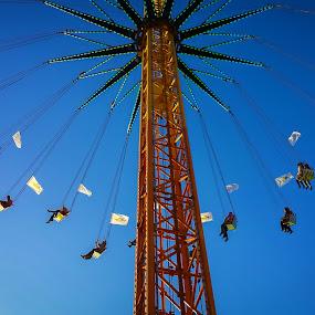 Amusement Park by Jamerson Rodrigues de Melo - City,  Street & Park  Amusement Parks ( blue sky, sky, amusement park, toy, park, blue, fun,  )