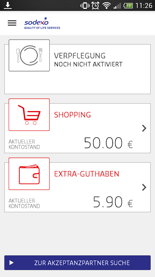 Sodexo Benefits Pass ® App- screenshot