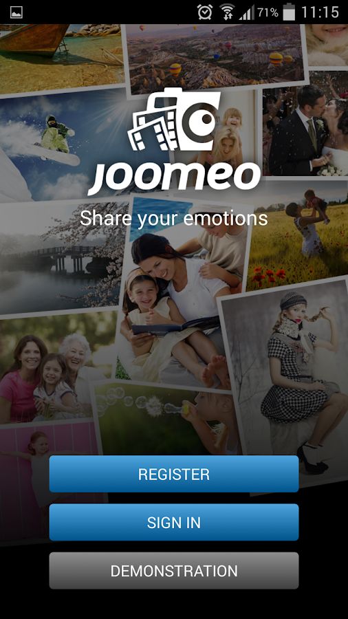 Joomeo - photos sharing- screenshot