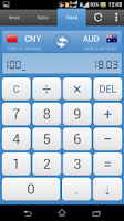 Screenshot of Currency Exchange Rates