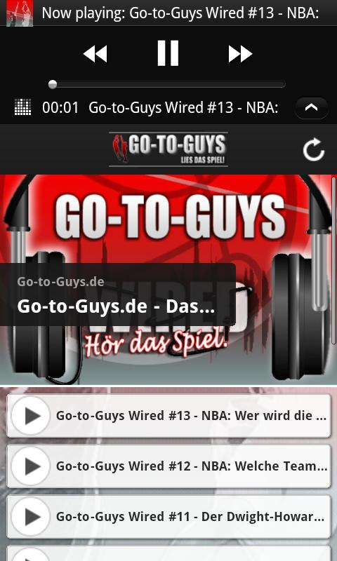 Go-to-Guys NBA Blog - screenshot