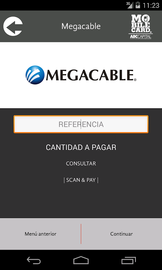 MobileCard - screenshot