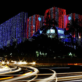 Decorated  by Qamrul Hassan Shajal - City,  Street & Park  Night ( decorated, architecture, tail, light, dhaka, t-20 world cup cricket )